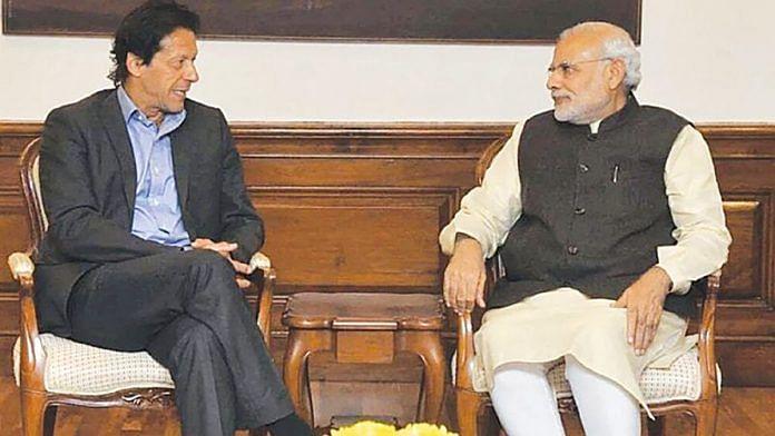 File photo of Prime Minister Narendra Modi with Pakistan PM Imran Khan | YouTube