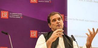 Congress president Rahul Gandhi at LSE | Facebook/Rahul Gandhi