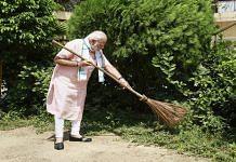 File photo Narendra Modi at a Swachh Bharat campaign | PTI