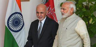 Prime Minister Narendra Modi and Afghanistan President Ashraf Ghani in New Delhi | Shahbaz Khan/PTI