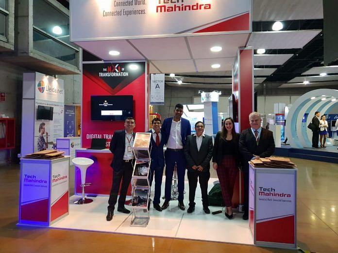 File photo of a Tech Mahindra stall | Twitter