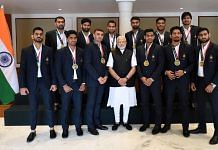 Indian men's Kabaddi team that finished third in the Jakarta Asian Games