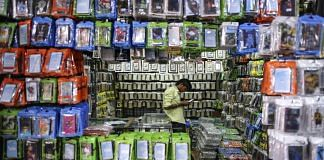 A wholesale stall selling mobile phone accessories in Mumbai | Dhiraj Singh/Bloomberg