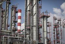Naftna Industrija Srbija AD (NIS) oil refinery in Pancevo, Serbia