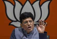 File image of Union Railway Minister Piyush Goyal at BJP HQ in New Delhi | PTI