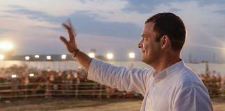 Congress president Rahul Gandhi during a rally in Rajasthan   PTI