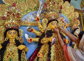 An idol of goddess Durga in Kolkata | Ashok Bhaumik/PTI