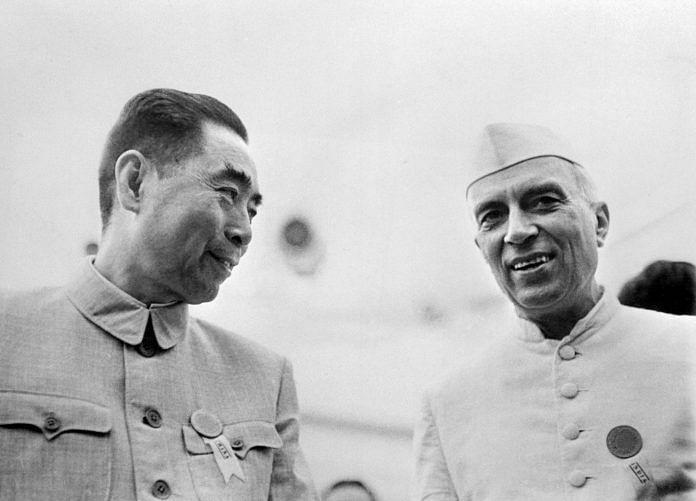 Nehru and Zhou Enlai
