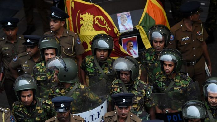 Sri Lankan soldiers in Colombo after violence broke out in the city   ISHARA S. KODIKARA/AFP/Getty Images