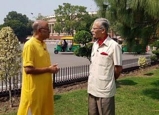 General Zameer Uddin Shah with Shekhar Gupta at the Walk the Talk | Special arrangement