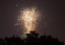 A firework lights up the sky during Diwali celebrations | Prashanth Vishwanathan/Bloomberg