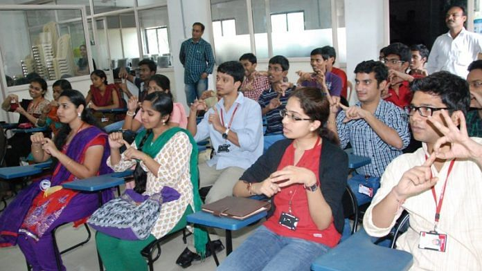 Training session for sign language interpreters (Representational image) | def.org.in
