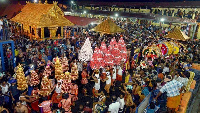File photo of Sabarimala temple   PTI