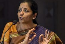 Nirmala Sitharaman, who was defence minister at the time, speaks during the Indian Defence Conclave, in New Delhi | PTI File Photo