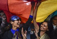 New Delhi: Members and supporters of the LGBT groups during Delhi's Queer Pride march, in New Delhi. | PTI