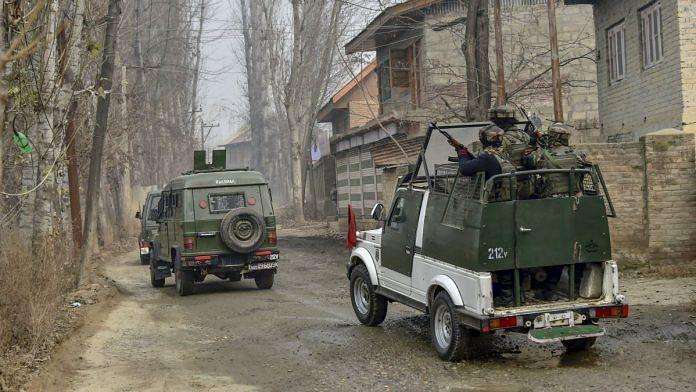 Army at Kuthipora village, Chattergam, Kashmir   S. Irfan/PTI