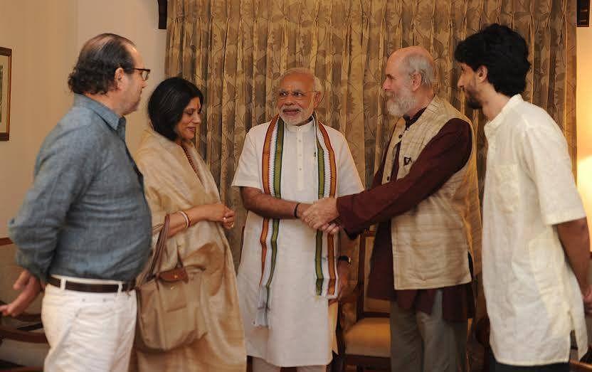 David Frawley with Narendra Modi, 2015 | drdavidfrawley/Facebook