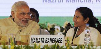 Prime Minister Narendra Modi and West Bengal CM Mamata Banerjee   Ashok Nath Dey/Hindustan Times via Getty Images
