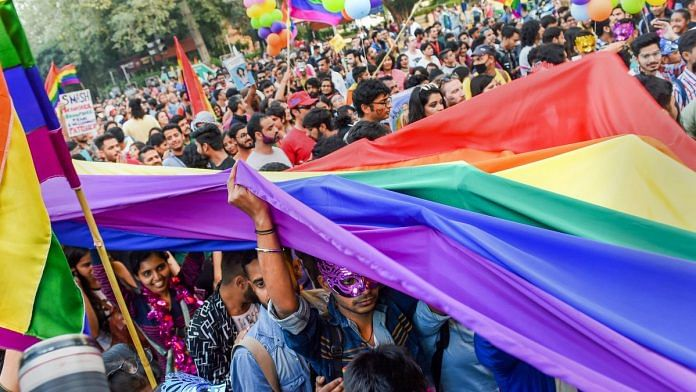 Members and supporters of the LGBT groups during Delhi's Queer Pride march (representational image) | Atul Yadav/PTI