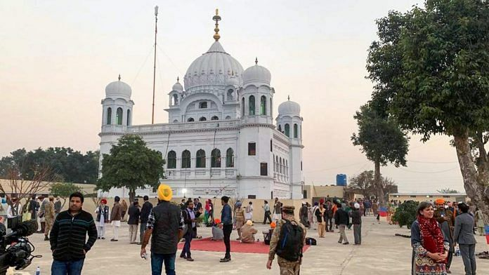 A view of the shrine of Sikh leader Guru Nanak Dev in Kartarpur, Pakistan