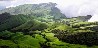 The shola forests nestled in valleys surrounded by undulating grasslands in Kudremukh | Archana Sundareshan