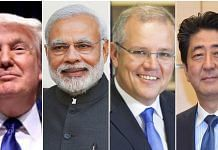 Donald Trump, Narendra Modi, Scott Morrison and Shinzo Abe