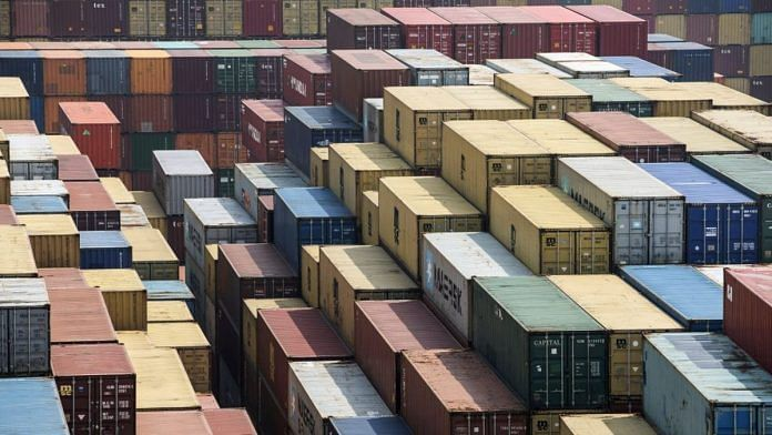 (Representative image) Shipping containers at a port in China | Bloomberg