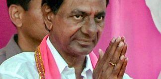 K. Chandrasekhar Rao at a public meeting in Telangana   PTI