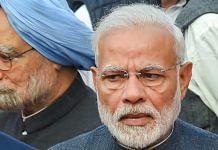 File photo of PM Narendra Modi and former PM Manmohan Singh | PTI