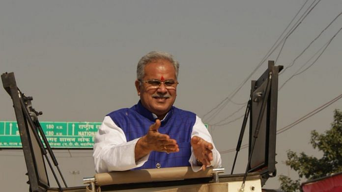 File photo of Chhattisgarh CM Bhupesh Baghel | @bhupeshbaghel/Twitter