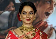 Kangana Ranaut during the trailer launch of her upcoming film, Manikarnika