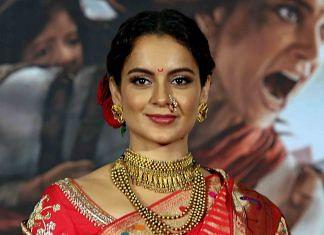 Kangana Ranaut during the trailer launch of her upcoming film, Manikarnika