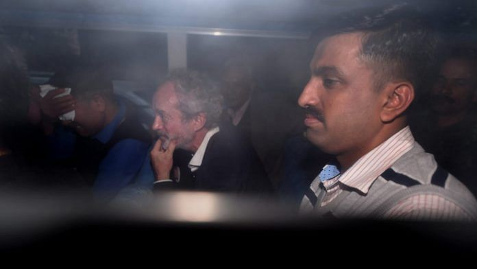 Michel Christian being produced at a CBI court in Patiala House Courts | Manvender Vashist/PTI