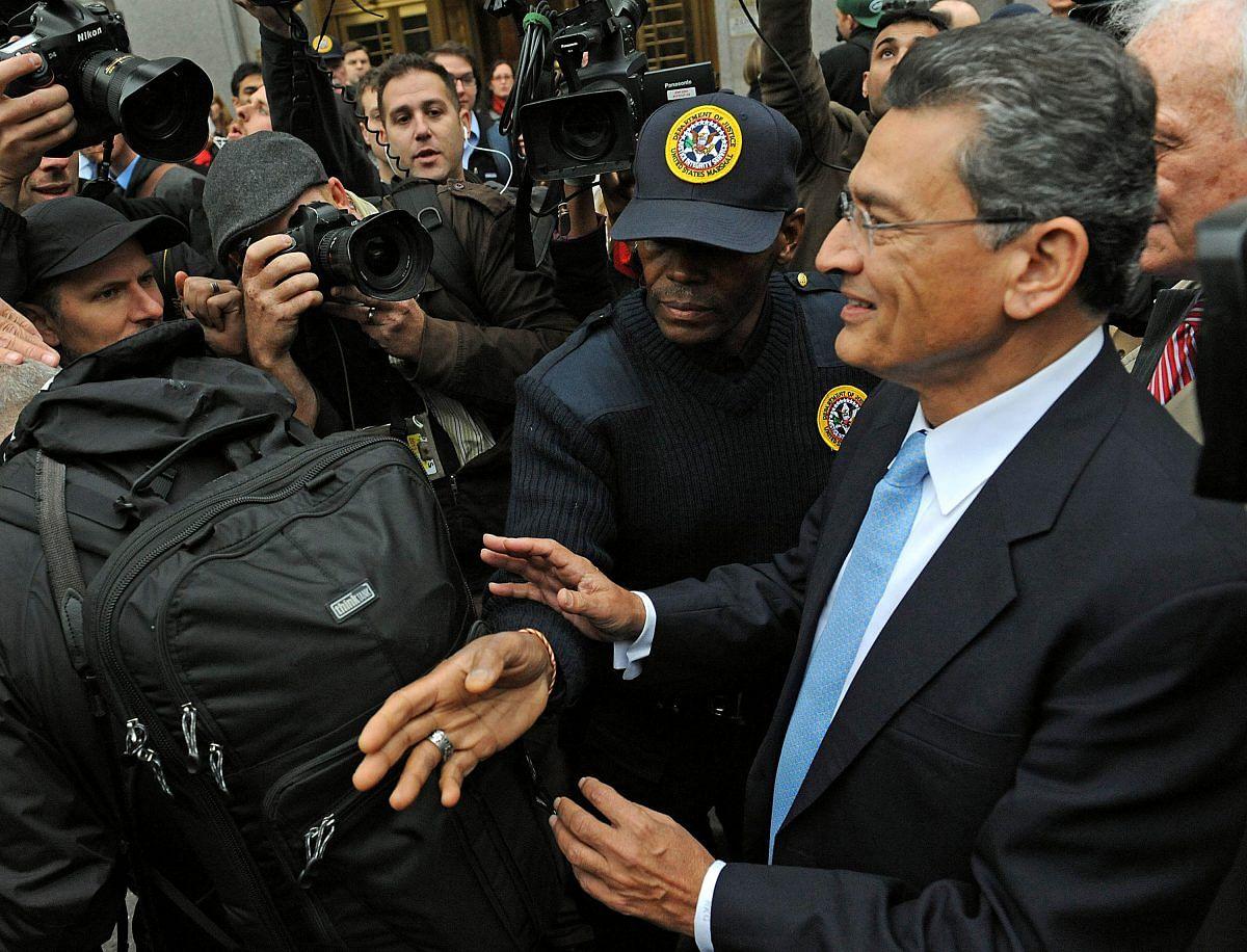 Rajat Gupta exits federal court in New York, following his sentencing, 24 Oct, 2012 | Louis Lanzano/ Bloomberg