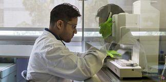 A scientist at work in a research lab in Bengaluru   Samyukta Lakshmi/Bloomberg
