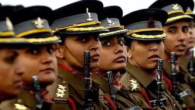 Women officer contingent of the Indian Army