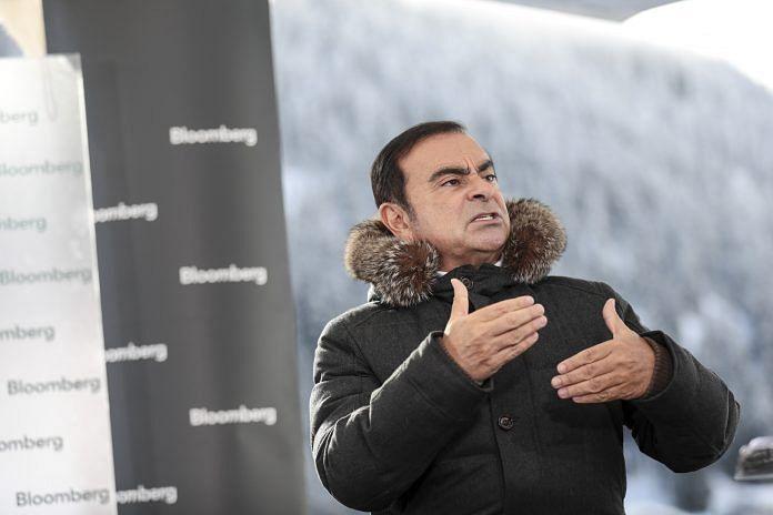 Carlos Ghosn in Davos in 2018   Simon Dawson/Bloomberg