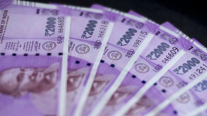 Two thousand rupee banknotes (representational image) | Photo: Dhiraj Singh | Bloomberg