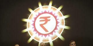 Arun Jaitley, Narendra Modi, and Jayant Sinha at the launch of the Micro Units Development and Refinance Agency (MUDRA) Bank | Kuni Takahashi/Bloomberg