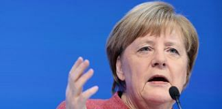 Angela Merkel, Germany's chancellor, delivers a speech during a special address on day two of the World Economic Forum (WEF) in Davos