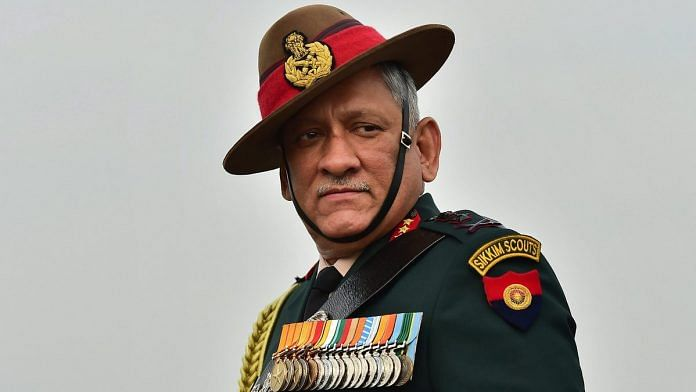 File photo of Army chief General Bipin Rawat | PTI