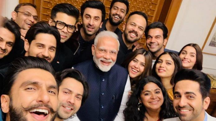 PM Narendra Modi with Bollywood stars