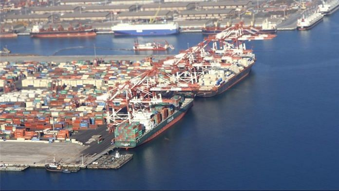 Chabahar port in Iran