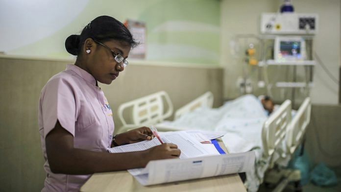 A nurse at work in a Chennai hospital | Representational Image | Dhiraj Singh/Bloomberg