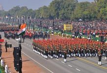 The Sikh regiment marching at the parade | Praveen Jain/ThePrint
