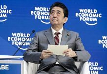 Shinzo Abe at Davos | Jason Alden/Bloomberg