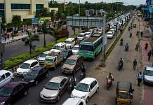 Traffic stands congested outside the Tidel Park information technology (IT) hub in Chennai (Representational image)