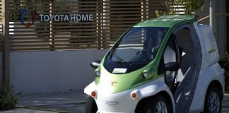 Toyota COMS super-compact electric vehicles a Toyota City