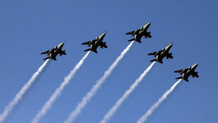 Indian Air Force fighter jets fly during the Republic Day parade in New Delhi
