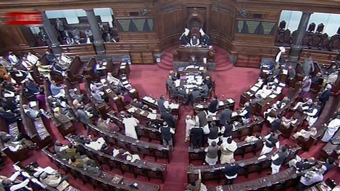Rajya Sabha during the Budget Session of Parliament | PTI